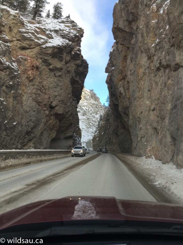 Radium - driving through the mountain