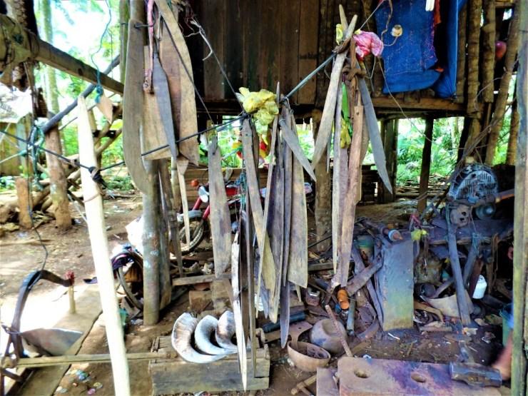 carabao horns wielding iron traditional island siargao san isidro