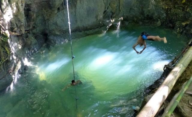 Tayangban Cave Pool in Pilar, Siargao.