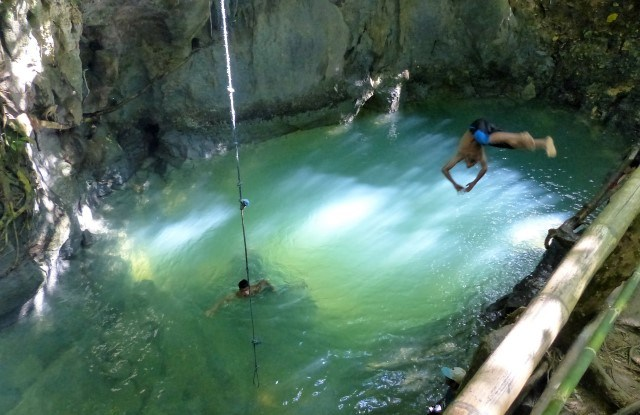 Tayangban Cave Pool in Pilar, Siargao.