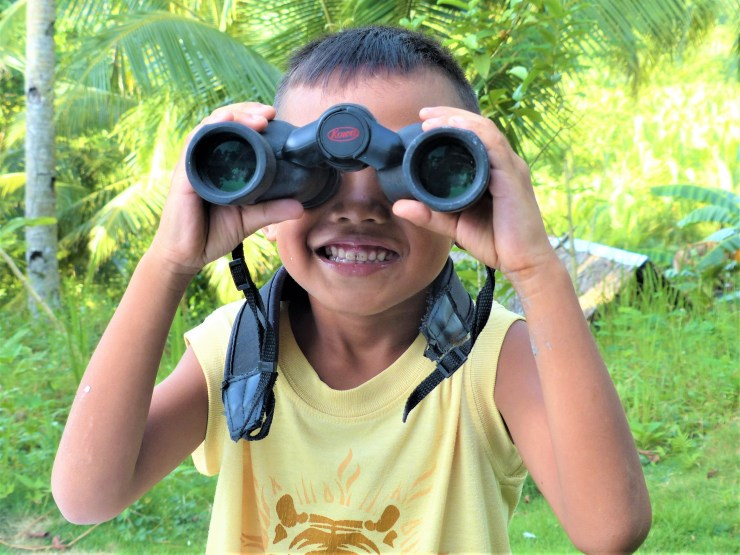 Birding with kids on Siargao island in the Philippines
