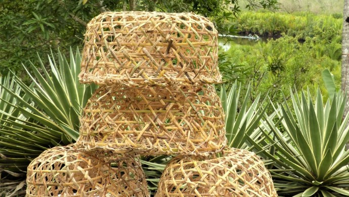 Panggal rattan crab traps on Siargao island, Philippines