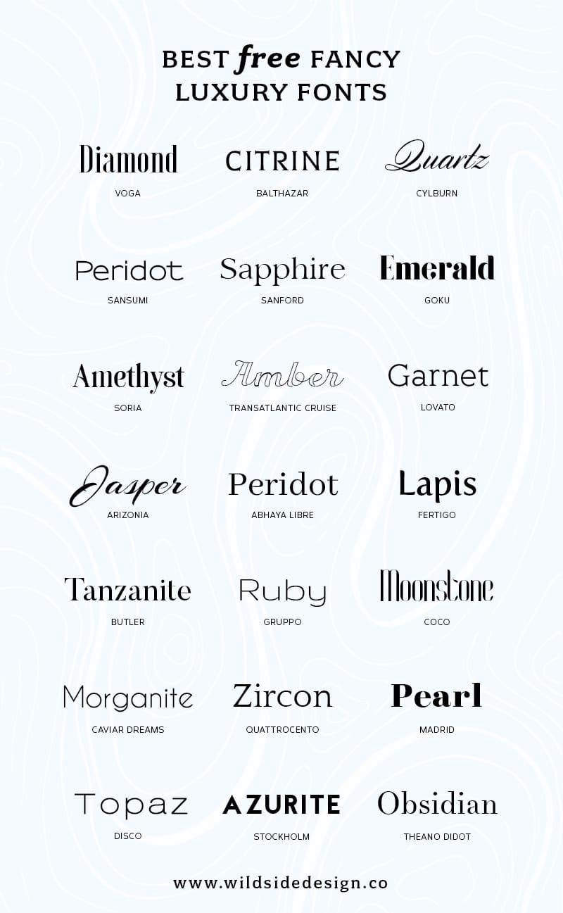 Download Best Free Luxury Fonts | Wild Side Design Co.