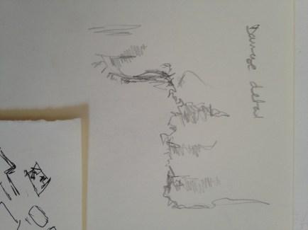 Pencil - quick observational sketch in situ.