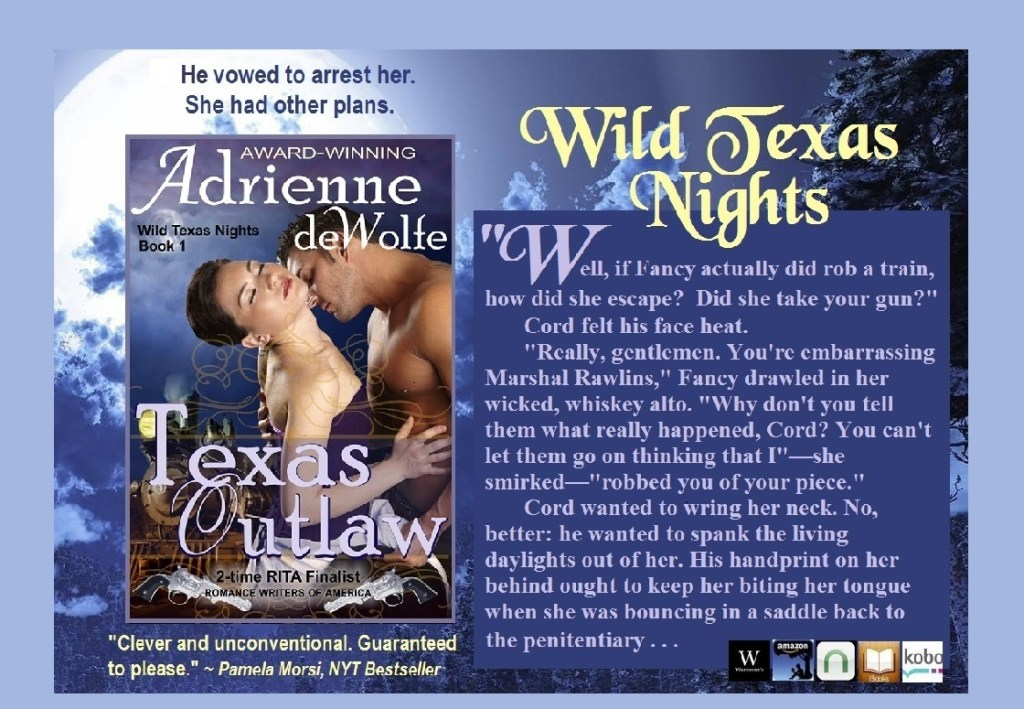 Wild Texas Nights, Western romance, Historical romance, Texas