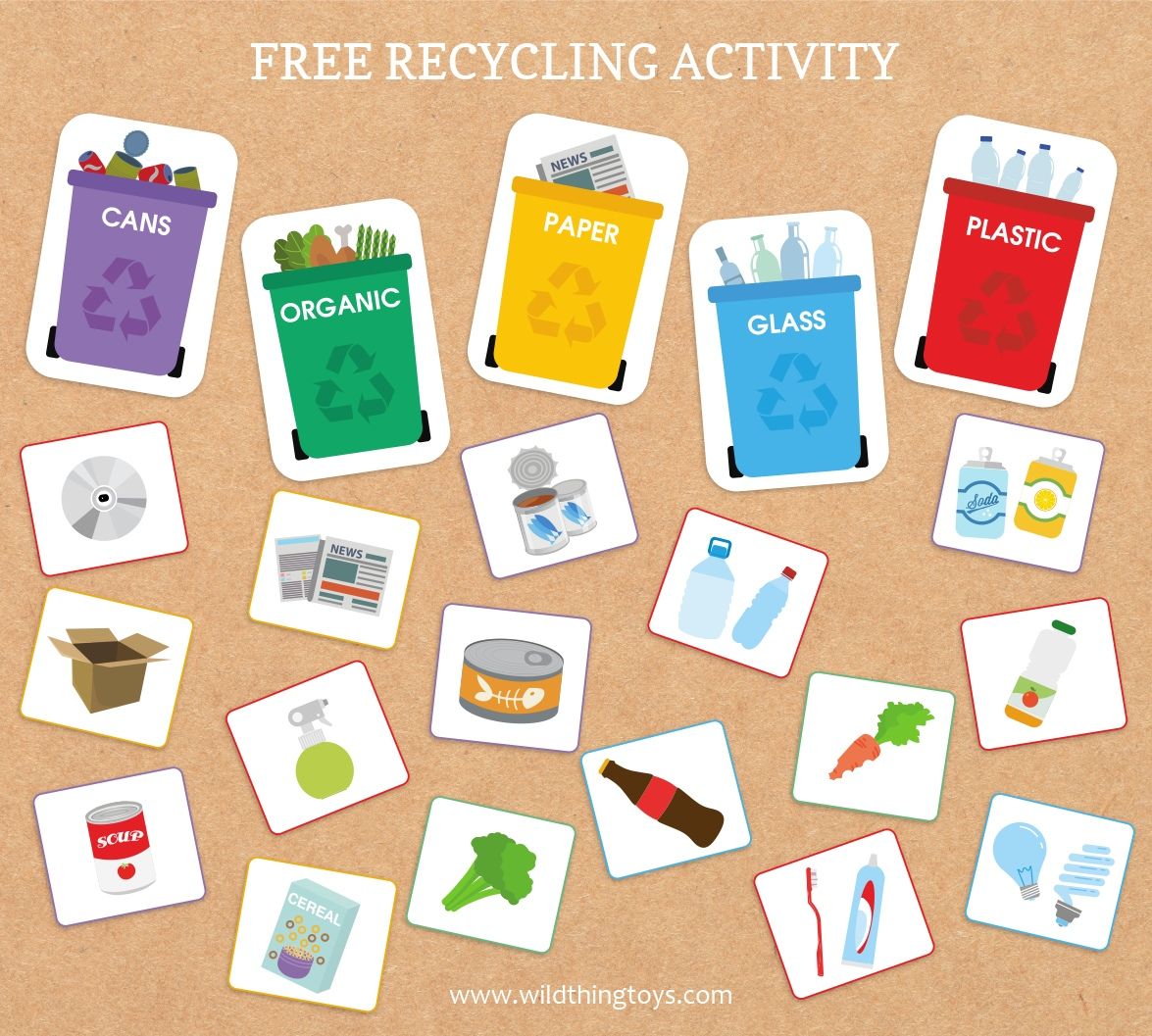 A Fun Printable Activity And Recycling Game To Help Your
