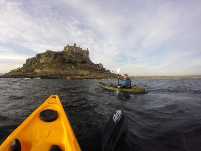 Kayaking Around St Michael's Mount Cornwall