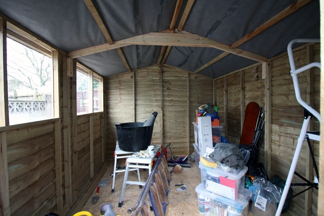 How To Put Up And Insulate A Shed Wild Tide