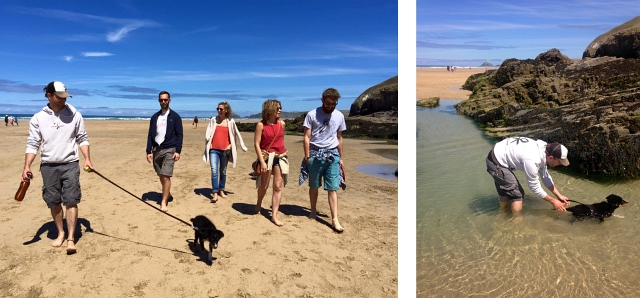Dog Walk Perranporth Beach