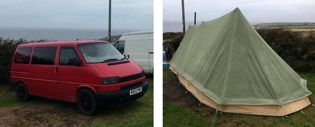 VW T4 Camping Cornwall