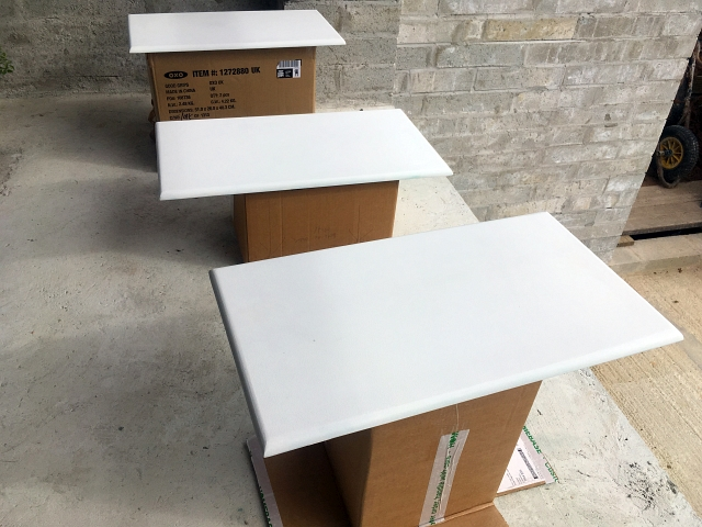 Larder Unit White Painted Doors