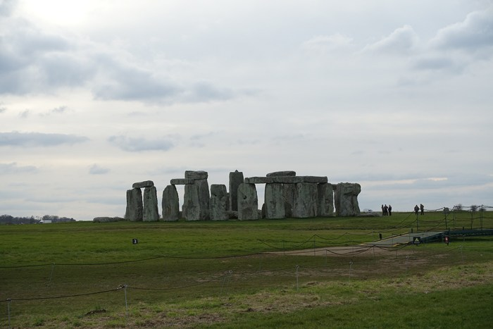View of Stonehenge from drove