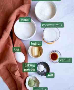 Green Tea Coconut Mochi Nutrition Fact