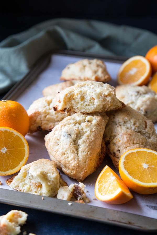 Orange Cream Scones | wildwildwhisk.com