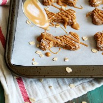 Peanut Butter Apple Dog Treats with Oat Flour | wildwildwhisk.com