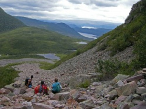 Slideshow 1 - Climbing the Gulley up Gros Morne Mt