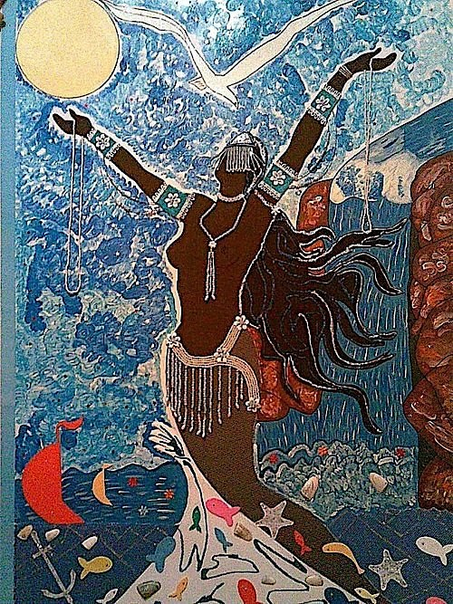 "Yemanjá ~ part of the series ""Deuses do Panteão Africano (Orixás)"" or ""Gods of African Pantheon (Orishas)"" ~ Nelson Boeira Faedrich (Brazilian artist, 1912-1994).jpg"