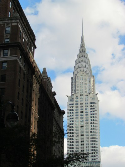 View of the Chrysler building. Love the art deco architecture!