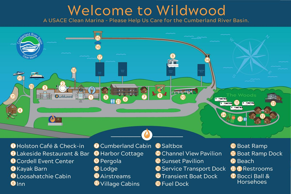 Wildwood Resort & Marina Map