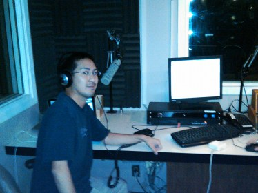 In The On-Air Studio at CKCU-FM