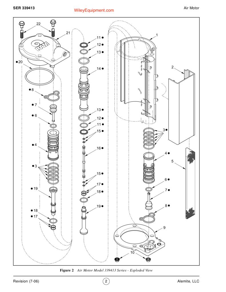Alemite 9968 Air motor Breakdown