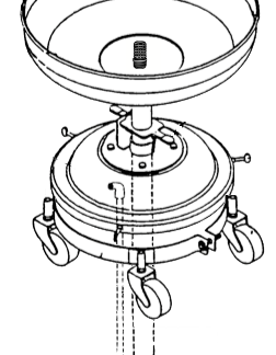 Balcrank 4110-029 Spillguard Used Oil Drain Drumless Drawing