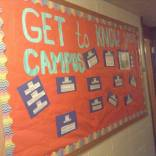"""""""Get to Know Your Campus"""" board"""