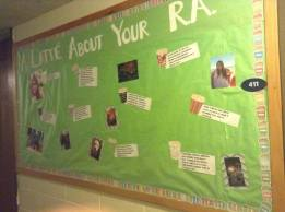 """""""A Latte About Your RA"""" board"""