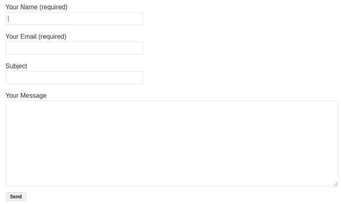 Contact Form 7 форма обратной связи WordPress