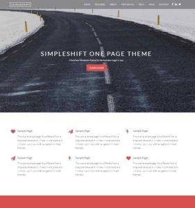 simpleshift - шаблон лендинг пейдж