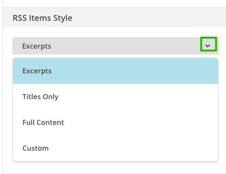 Содержание блока MailChimp