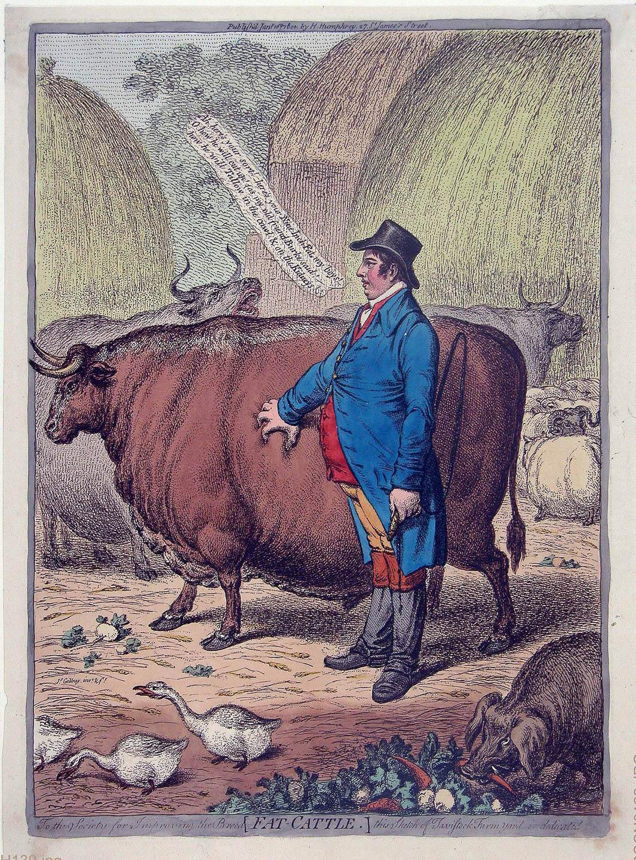 James Gillray (1757–1815): Fat-Cattle, 1802 © Museum Wilhelm Busch – Deutsches Museum für Karikatur und Zeichenkunst