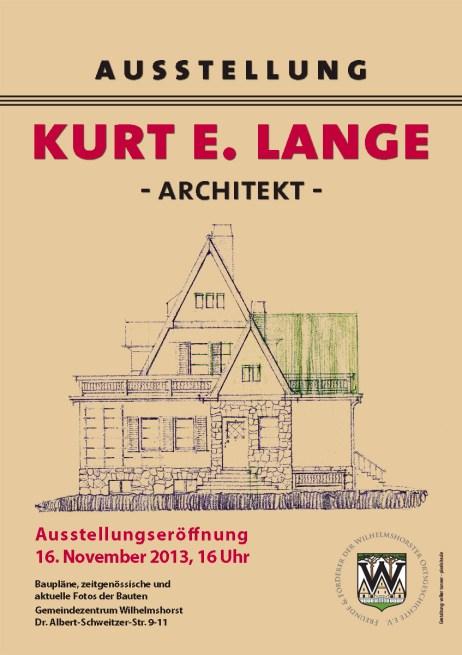 Plakat Kurt E. Lange