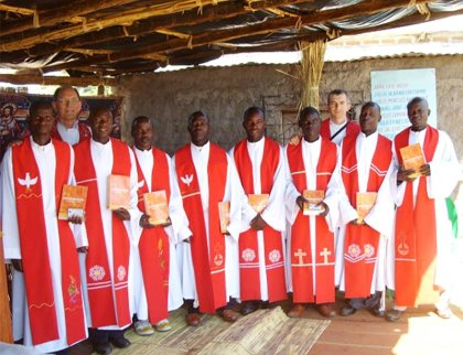 Lutheran pastors in Mosambique