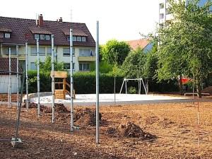 Spielplatz Amstetter Straße Stuttgart Hedelfingen Baustelle Juli 2015