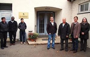 Besuch bei Fluechtlingen in der Turn- und Versammlungshalle Stuttgart Hedelfingen