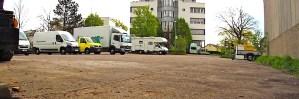 Ostfildern Kemnat Parkplatz Sporthalle