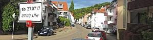 Bis 9.9.2017 Baustelle in Rohracker