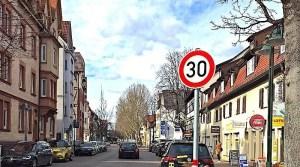 Tempo 30 Ulmer Straße Stuttgart Wangen