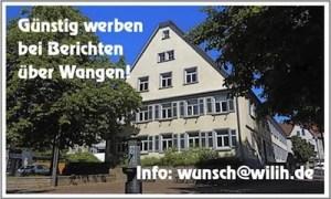Werbefeld Rathaus Wangen
