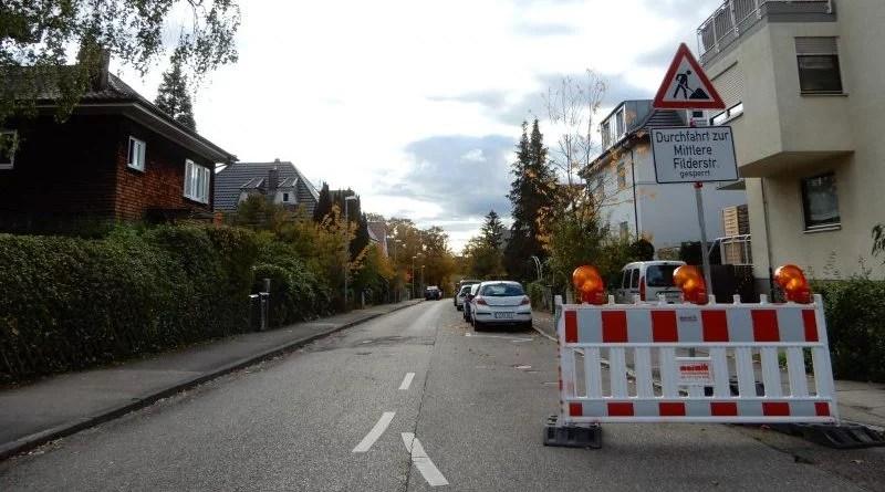 EnBW Baustelle Gasleitung Sillenbuch