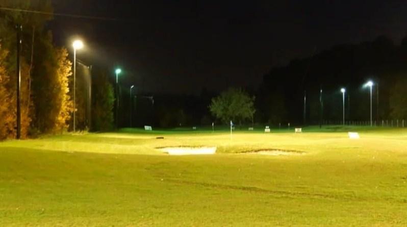 Golfanlage GolfKultur bei Flutlicht