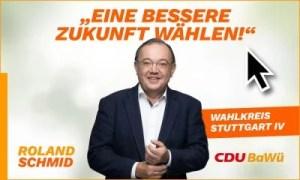 Anzeige Roland Schmid zur Landtagswahl Motiv 2