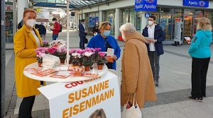 Wahlkampfstand der CDU Sillenbuch mit Susanne Eisenmann 26.2.2021