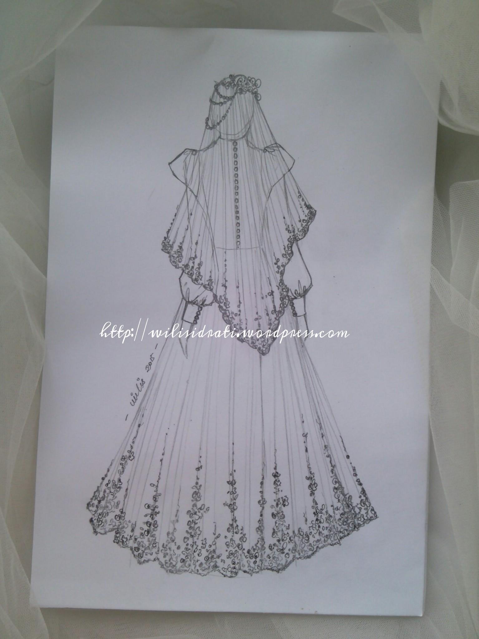 Kumpulan Contoh Gambar Sketsa Baju Gamis Informasi Masa Kini