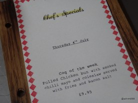 Joe's Southern Kitchen - Chef's Specials (WIth obligatory 'Coq' pun)