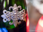 Ornate peter crest on the Segura Viudas Brut 'Heredad' (Macabeu 67%, Parellada 33%)