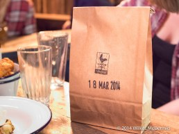 Cornbread, served in a paper bag for freshness... reminds of me Duck & Waffle's Pig's Ears, also served in a brown bag.