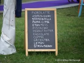 Ice cream flavours...