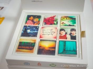 Presented in a 3 x 3 box
